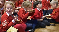 Baker feeds pupils' minds and bodies