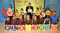 Pupils learn how to stay safe when using the internet