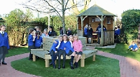 School muddy patch transformed into 'reflection area'
