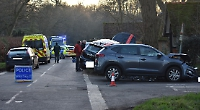 Two treated for minor injuries after Binfield Heath crash