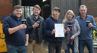 Brewery wins award after boss recovers from illness