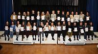 Students return to school for awards presentation