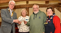 Lions give £500 towards refurb of scout hut