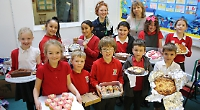 Pupils love Valentine's Day cake baking competition