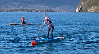 Woman is top Briton at paddleboarding competition