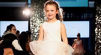 Girl, five, makes catwalk debut at London Fashion Week