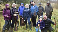 Volunteers plant hundreds of trees at village spinney
