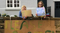 Girls collect £65 for charity helping to save the planet