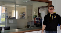 Teacher makes protective screens for GP surgeries