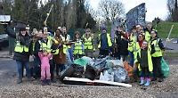 Volunteers fill 40 bin bags with rubbish during litter-pick