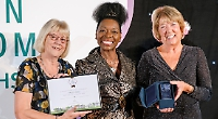 Woman awarded freedom of village for contribution