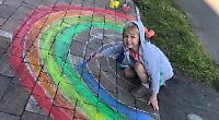 Pupils enjoy creating rainbows to cheer everybody up