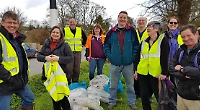 Twenty-four bags of litter collected in one hour