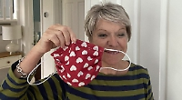 Woman makes masks for friends and neighbours