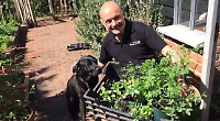 Garden designer raises £1,500 for charity by selling boxes of fruit and veg