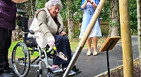 Pear tree planted at care home for unity