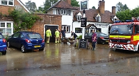 Village pub flooded after sudden rain and hailstorm