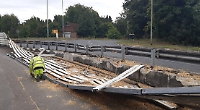 Crash barrier flattened in Sonning accident