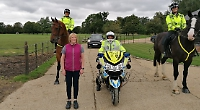 Horse rider who almost died in accident joins police patrol