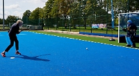 MP nets first goal on newly laid AstroTurf hockey pitch