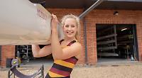 Schoolgirl sculler awarded £10,000 boat by sponsor