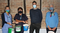 Women's home-made face masks help raise £2,000