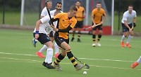 Trio net seven goals as amber and blues run riot on travels