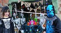 Hundreds of children follow village's Halloween trail