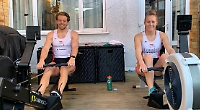 Rowers back to training in kitchen for lockdown