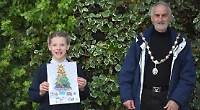 Girl, 10, wins Mayor's card design contest
