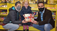 Girl, four, wins hamper of sweets for solving festive trail puzzle