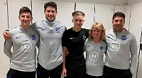 Crash victim hopes to still play football for England