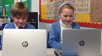 Pupils given laptops to help them learn in lockdown