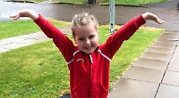Girl, six, raises £650 for Rainbows group by running