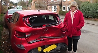 Woman loses three cars to crashes outside home