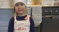 Alice, four, makes £500 for NHS by baking cupcakes