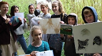 Art club's members take inspiration from museum artefacts