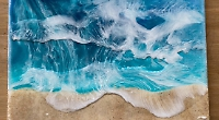 Lockdown experiments led artist to paint ocean waves
