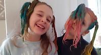 Crazy hair day keeps children calm