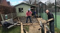 Tennis club spends £6,000 on new decking before players are back on court