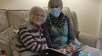 Care home residents delighted to see families in flesh