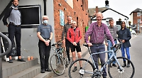Cycling former pastor presented with new road bike