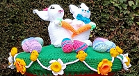 Spring sunshine, lockdown easing and Easter gift from mystery crocheter