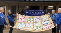 Riding for disabled charity given leg up with sale of homemade quilt