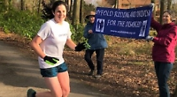 Girl's double marathon for mum's charity
