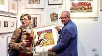 Gallery goers' joy
