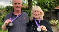 Couple raise £4,000 for church with 100km walk