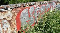 Now 'eyesore' rail bridge is covered in graffiti tags