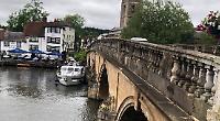Historic bridge takes another bash from wayward boat