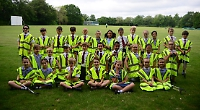 Children clear up rubbish in and around their school